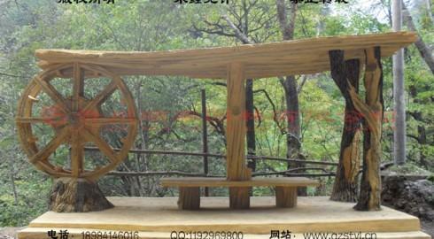 安康双龙景区仿木景观