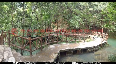 湖北襄阳香水河景区生态仿木栈道景观