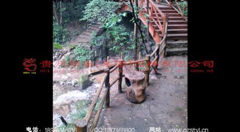 湖北襄阳五道峡景区仿木生态栈道景观