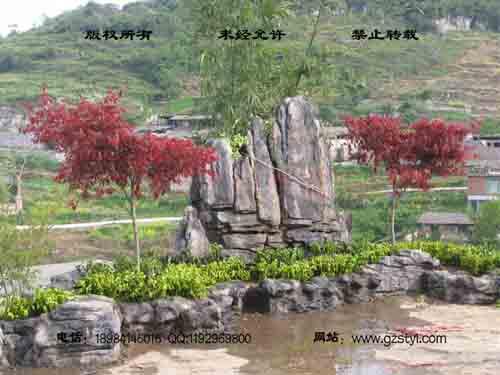塑石假山--贵阳保利屋顶花园 (11)