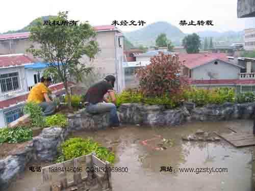 塑石假山--贵阳保利屋顶花园 (4)