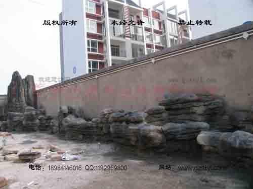 塑石假山--贵阳保利屋顶花园 (5)