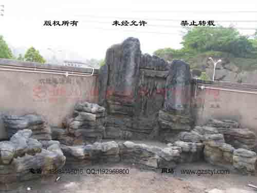 塑石假山--贵阳保利屋顶花园 (7)