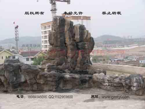 塑石假山--贵阳保利屋顶花园 (8)