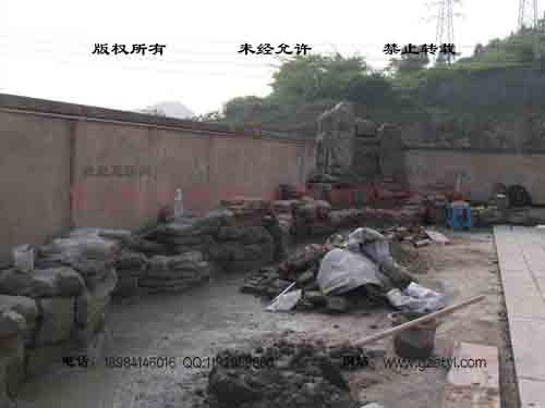 塑石假山--贵阳保利屋顶花园 (9)